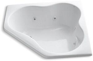 Kohler ProFlex® 54 x 54 in. Whirlpool Drop-In Bathtub in White K1154