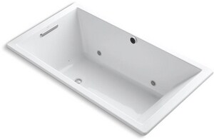 Underscore® 66 x 36 in. Air Bath Drop-In Bathtub with Reversible Drain in White K1173-GCW-0