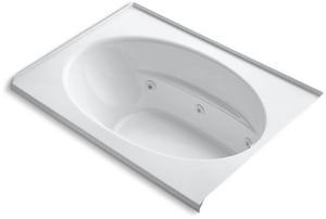 Kohler Windward® 60 x 42 in. Whirlpool Drop-In Bathtub with Right Drain in White K1112-R-0