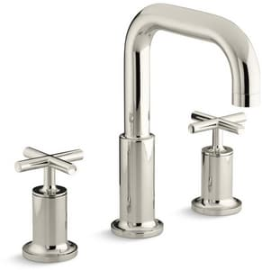 Kohler Purist® Two Handle Roman Tub Faucet in Vibrant Polished Nickel Trim Only KT14428-3-SN