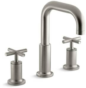 Kohler Purist® Two Handle Roman Tub Faucet in Vibrant Brushed Nickel Trim Only KT14428-3-BN