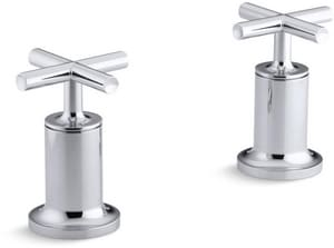 Kohler Purist® Deckmount High Flow Bath Valve Trim with Double Cross Handle in Polished Chrome KT14429-3-CP