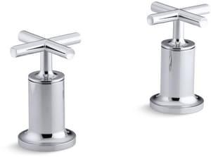 Kohler Purist® Deckmount High Flow Bath Valve Trim with Double Cross Handle in Polished Chrome KT14429-3