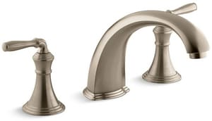 KOHLER Devonshire® Two Handle Roman Tub Faucet in Vibrant Brushed Bronze Trim Only KT398-4-BV
