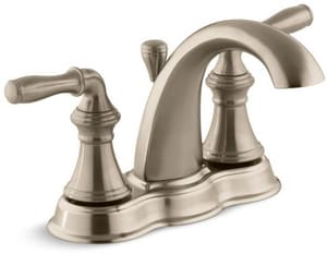 Kohler Devonshire® Two Handle Centerset Bathroom Sink Faucet in Vibrant Brushed Bronze K393-N4-BV