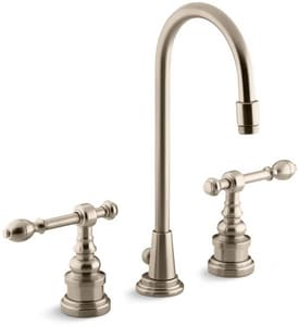 Kohler IV Georges Brass® 1.2 gpm Double Lever Handle Lavatory Faucet in Vibrant Brushed Bronze K6813-4-BV