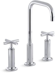 Kohler Purist® Two Handle Widespread Bathroom Sink Faucet in Polished Chrome K14408-3-CP
