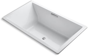 Kohler Underscore® 72 x 42 in. Air Bath Drop-In Bathtub in White K1174-G-0