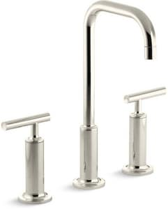 KOHLER Purist® Two Handle Bathroom Sink Faucet in Vibrant Polished Nickel K14408-4-SN