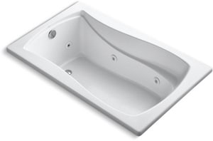 Kohler Mariposa® 60 x 36 in. Bathtub with End Drain in White K1239-W1-0