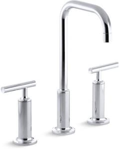 KOHLER Purist® Two Handle Widespread Bathroom Sink Faucet in Polished Chrome K14408-4-CP