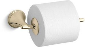 Kohler Finial® Wall Mount Toilet Tissue Holder in Vibrant French Gold K361-AF
