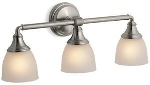 KOHLER Devonshire® 3 Light 100W Up or Down Facing Wall Sconce Vibrant Brushed Nickel K10572-BN