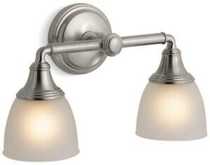 Kohler Devonshire® 2 Light 100W Up or Down Facing Wall Sconce Vibrant Brushed Nickel K10571-BN