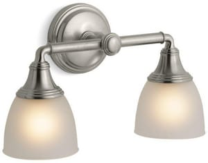 KOHLER Devonshire® 2 Light 100W Up or Down Facing Wall Sconce Vibrant Brushed Nickel K10571-BN