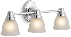 KOHLER Forte® 100W Up or Down Facing 3 Light Sconce for Forte Faucet Line Polished Chrome K11367-CP