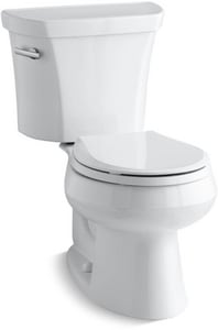Kohler Wellworth® 1.28 gpf Elongated Toilet in White with Left-Hand Trip Lever K3997-0