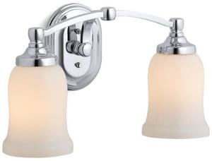 KOHLER Bancroft® Double Wall Sconce in Polished Chrome K11422-CP