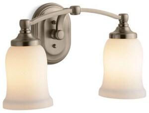 KOHLER Bancroft® Medium Base Double Sconce in Vibrant Brushed Bronze K11422-BV