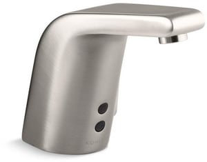 Kohler Sculpted No Handle Sensor Bathroom Sink Faucet in Vibrant Stainless K13462-VS