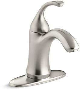 KOHLER Forte® Single Handle Monoblock Bathroom Sink Faucet in Vibrant Brushed Nickel K10215-4-BN