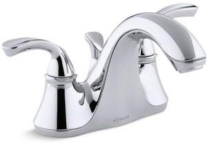 KOHLER Forte® Two Handle Centerset Bathroom Sink Faucet in Polished Chrome K10270-4-CP