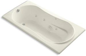 KOHLER ProFlex® 72 x 36 in. Whirlpool Drop-In Bathtub with Reversible Drain in Biscuit K1157-96