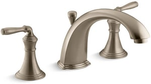 Kohler Devonshire® Two Handle Roman Tub Faucet in Vibrant Brushed Bronze Trim Only KT387-4-BV