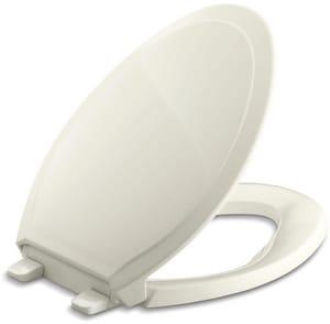 KOHLER Rutledge® Quiet-Close™ Elongated Closed Front Toilet Seat in Biscuit K4734-96