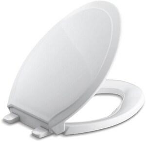KOHLER Rutledge® Quiet-Close™ Elongated Closed Front Toilet Seat in White K4734-0