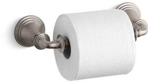 KOHLER Devonshire® Wall Mount Toilet Tissue Holder in Vibrant Brushed Nickel K10554-BN