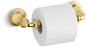 KOHLER Devonshire® Wall Mount Toilet Tissue Holder in Vibrant Polished Brass K10554-PB