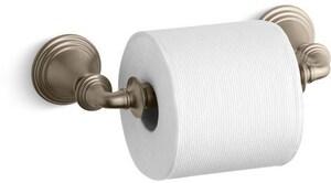 KOHLER Devonshire® Wall Mount Toilet Tissue Holder in Vibrant Brushed Bronze K10554-BV