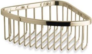 KOHLER 3 x 9-1/8 x 6-1/4 in. Medium Corner Shower Basket in Vibrant French Gold K1896-AF