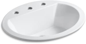 KOHLER Bryant® Drop-in Basin in White K2699-8-0