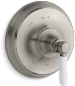 Kohler Bancroft® Single Ceramic Lever Handle Pressure Balancing Valve Trim in Vibrant Brushed Nickel KT10584-4P-BN
