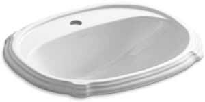 Kohler Portrait® Drop-in Bathroom Sink in White K2189-1-0