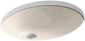 Kohler Caxton® 1-Bowl Vitreous China Undermount Lavatory Sink in Almond K2211-G
