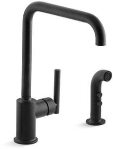 KOHLER Purist® Single Handle Kitchen Faucet in Matte Black K7508-BL