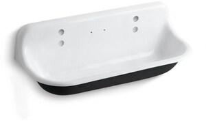 Kohler Brockway™ 4 ft. Cast Iron Wash Service Sink White K3202-0