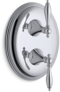 Kohler Finial® Valve Trim with Double Lever Handle in Polished Chrome KT10302-4M-CP