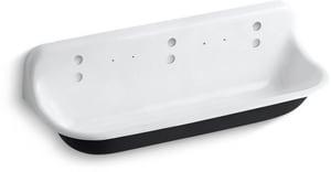 Kohler Brockway™ 5 ft. Cast Iron Wash Service Sink White K3203-0