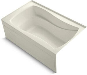 Kohler Mariposa® 60 x 36 x 20 in Soaker Alcove Bathtub with Right Drain in Biscuit K1242-RA-96