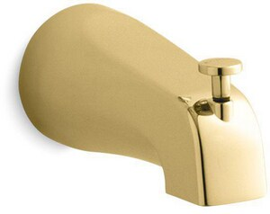KOHLER Coralais® 4-7/8 in. Diverter Bath Spout with NPT Connection Polished Brass K15136-PB