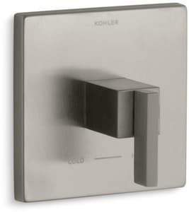 KOHLER Loure® Single Lever Handle Thermostatic Valve Trim in Vibrant Brushed Nickel KT14672-4-BN