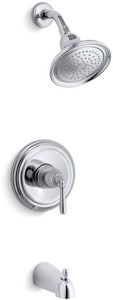 Kohler Devonshire® 2.5 gpm Bath and Shower Valve Trim with Single Lever Handle and NPT Spout KTS395-4