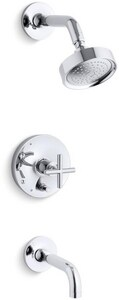 KOHLER Purist® Single Handle Single Function Bathtub & Shower Faucet in Polished Chrome (Trim Only) KT14421-3E-CP