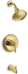 Kohler Devonshire® Pressure Balancing Bath and Shower Faucet Trim with Single Lever Handle in Vibrant Polished Brass KT395-4-PB