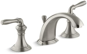 Kohler Devonshire® Two Handle Widespread Bathroom Sink Faucet in Vibrant Brushed Nickel K394-4-BN
