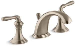 KOHLER Devonshire® Two Handle Widespread Bathroom Sink Faucet in Vibrant Brushed Bronze K394-4-BV